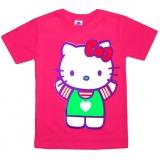 """5902-4 """"Китти"""" футболка для девочек 5-9 лет"""