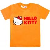 """5902-5 """"Привет!"""" футболка для девочек 5-9 лет"""